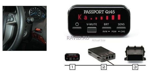 Escort Passport QI45 Red Euro-1